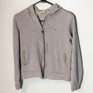 Lacoste full zip hoodie sweatshirt cropped jacket